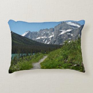 Josephine Lake Trail with Mount Guild at Glacier Decorative Pillow