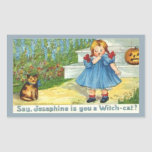 Josephine the witch Cat Rectangle Sticker