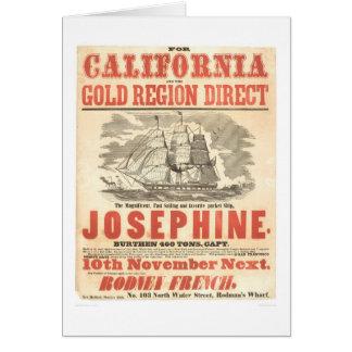 """Josephine"" to California Advertisement (1280A) Card"