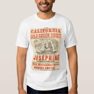 """Josephine"" to California Advertisement (1280A) T-shirt"