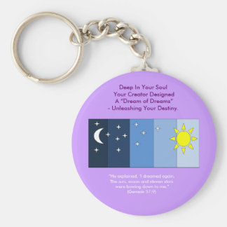 Joseph's Dream Basic Round Button Keychain