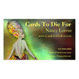 Josette en amarillo - tarjetas de visita