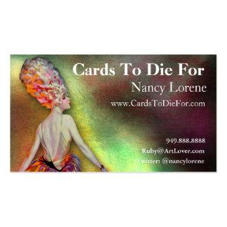 Josette en el naranja - tarjetas de visita