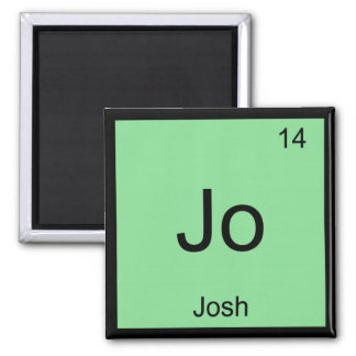 Josh  Name Chemistry Element Periodic Table 2 Inch Square Magnet