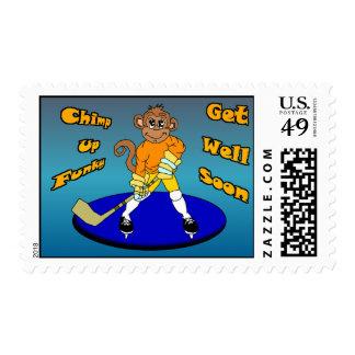 Josh the Ice Hockey Monkey Postage Stamp
