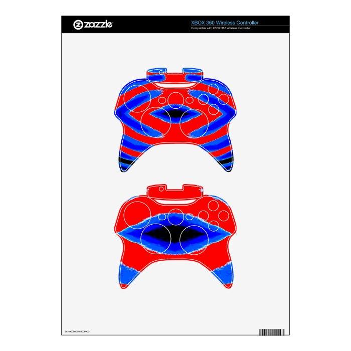 JOSHINO  Diamond Red n Blue Xbox 360 Controller Skin