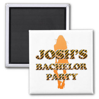 Josh's Bachelor Party 2 Inch Square Magnet