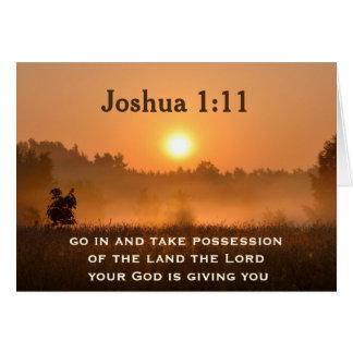 Joshua 1:11 Scripture Take Possession of the Land Card