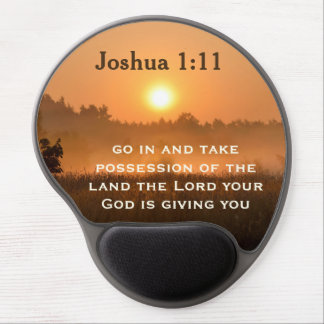 Joshua 1:11 Scripture Take Possession of the Land Gel Mouse Pad