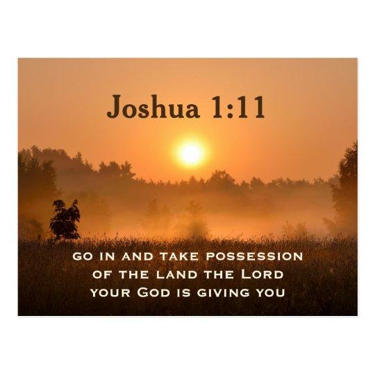 Joshua 1:11 Scripture Take Possession of the Land Postcard ...