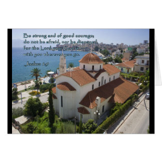 Joshua 1:9 Albanian Church Greeting Card
