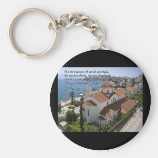 Joshua 1:9 Albanian Church Basic Round Button Keychain