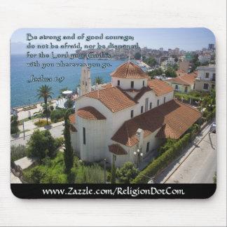 Joshua 1:9 Albanian Church Mouse Pad