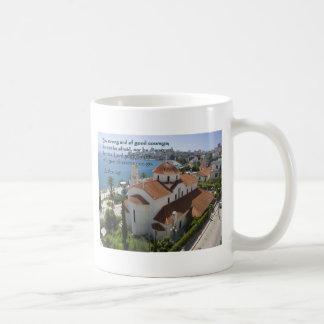 Joshua 1:9 Albanian Church Classic White Coffee Mug