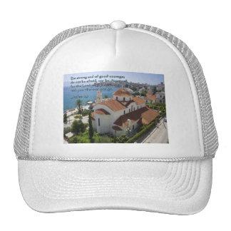 Joshua 1:9 Albanian Church Trucker Hat