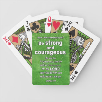 Joshua 1:9 Be Strong and Courageous Bible Verse Bicycle Playing Cards