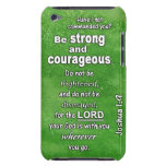 Joshua 1:9 Be Strong and Courageous Bible Verse iPod Case-Mate Case