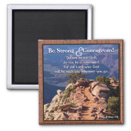 Joshua 1:9 Be Strong Scripture Magnet