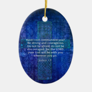 Joshua 1 9 Bible Verse About Strength Christmas Tree Ornament