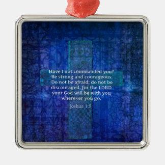 Joshua 1 9 Bible Verse About Strength Ornament