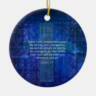 Joshua 1 9 Bible Verse About Strength Christmas Ornaments