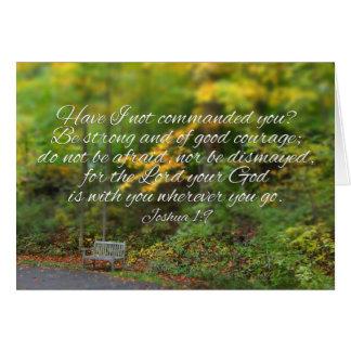 Joshua 1:9 Bible Verse Christian Scripture Cards