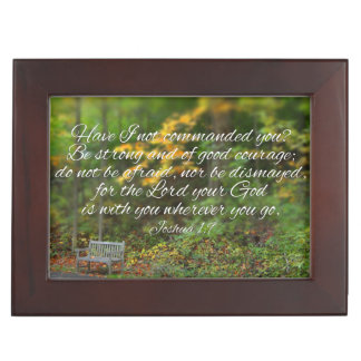Joshua 1:9 Bible Verse Christian Scripture Memory Box