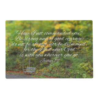 Joshua 1:9 Bible Verse Christian Scripture Placemat