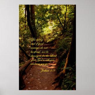 Joshua 1:9 Do not be afraid Poster