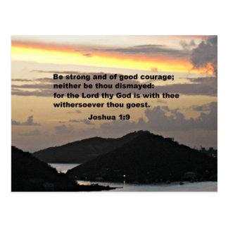 Joshua 1:9 postcard