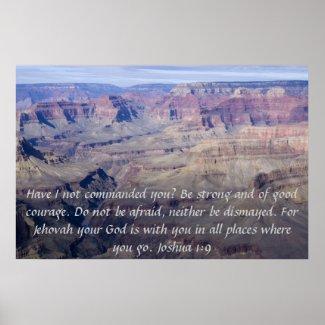 Joshua 1:9 Poster print