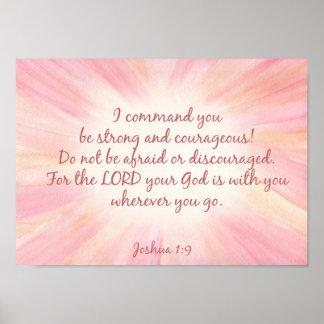 Joshua 1:9 Watercolor starburst print