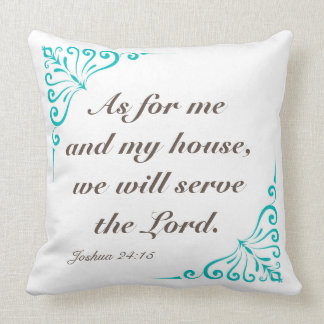 Joshua 24:15 20 x 20 reversible square pillow