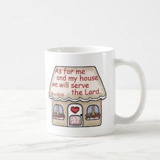 Joshua 24:15 classic white coffee mug