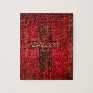 Joshua 24:15 Hip Modern Christian art Puzzles