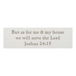 Joshua 24:15 panel wall art