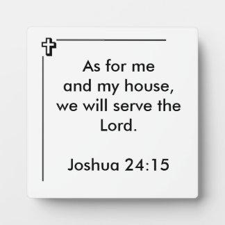 Joshua 24:15 Square Photo Plaque