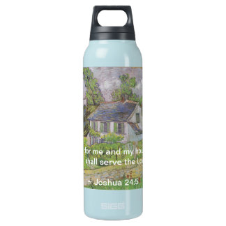 Joshua 24:15 Van Gogh House Insulated Water Bottle
