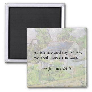 Joshua 24:15 Van Gogh House Magnet