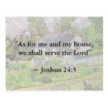 Joshua 24:15 Van Gogh House Postcard