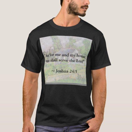 Joshua 24:15 Van Gogh House T-Shirt