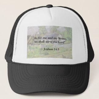 Joshua 24:15 Van Gogh House Trucker Hat