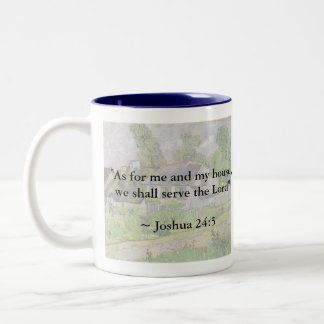 Joshua 24:15 Van Gogh House Two-Tone Coffee Mug