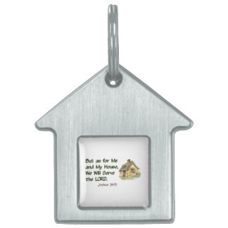 Joshua 24:15 We Will Serve The Lord Pet Name Tag
