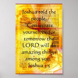 Joshua 3:5 poster