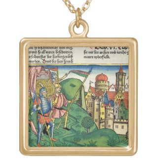 Joshua 6 4-21 The Fall of Jericho, from the 'Nurem Gold Plated Necklace
