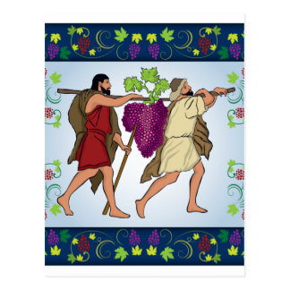 Joshua and Caleb Handing the Grape After Spy Postcard