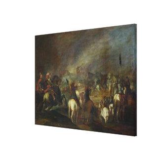 Joshua at the walls of Jericho Canvas Print