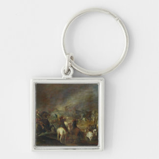 Joshua at the walls of Jericho Silver-Colored Square Keychain