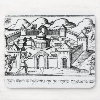 Joshua at the Walls of Jericho Mouse Pad